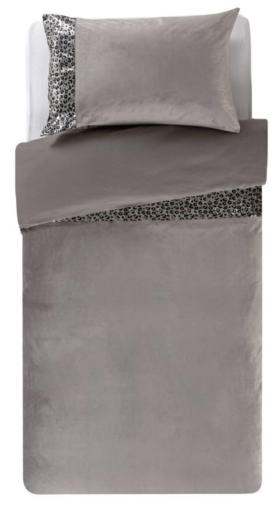 Argos Home Sequin Leopard Print Bedding Set - Single Best Price, Cheapest Prices