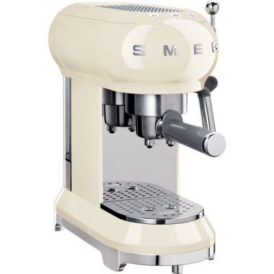 Smeg ECF01CRUK Espresso Coffee Machine - Cream Best Price, Cheapest Prices