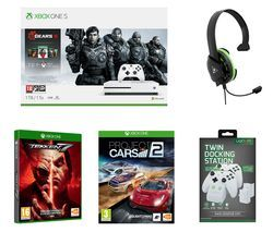 MICROSOFT Xbox One S Gears 5 Special Edition with Tekken 7, Project Cars 2, Docking Station and Gaming Headset Bundle - 1 TB Best Price, Cheapest Prices