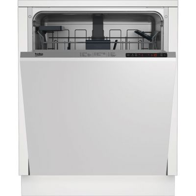 Beko DIN26410 Fully Integrated Standard Dishwasher - Silver Control Panel with Fixed Door Fixing Kit - A+ Rated Best Price, Cheapest Prices