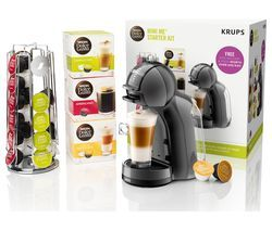 DOLCE GUSTO by Krups Mini Me KP128BUN Coffee Machine Starter Kit - Black & Grey Best Price, Cheapest Prices
