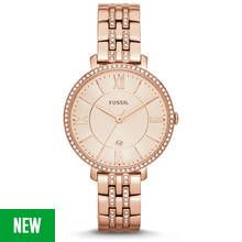 Fossil Ladies' Jacqueline ES3546 Rose Gold Tone Watch Best Price, Cheapest Prices