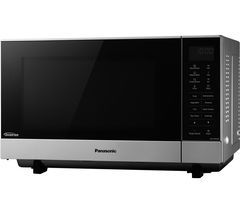 PANASONIC NN-SF464MBPQ Solo Microwave - Silver Best Price, Cheapest Prices