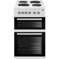 Beko KD532AW KD533AW 50 cm Twin Cavity Electric Cooker - White Best Price, Cheapest Prices