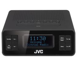 JVC RA-D38-B DAB/FM Clock Radio - Black Best Price, Cheapest Prices