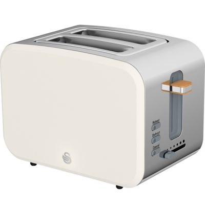 Swan Nordic ST14610WHTN 2 Slice Toaster - White Best Price, Cheapest Prices