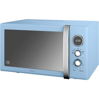 Swan Retro SM22085BLN 25 Litre Microwave - Blue Best Price, Cheapest Prices
