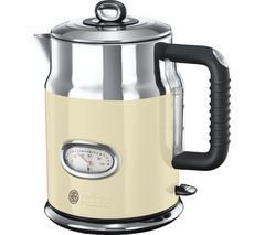RUSSELL HOBBS Retro Vintage N21672 Jug Kettle - Cream Best Price, Cheapest Prices