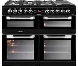 LEISURE Cuisinemaster CS100F520K Dual Fuel Range Cooker - Black Best Price, Cheapest Prices