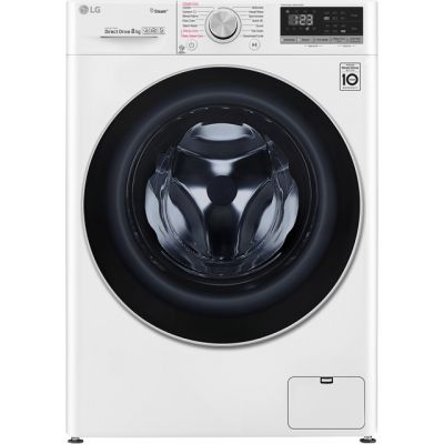 LG Vivace F4V508WS 8Kg Washing Machine with 1400 rpm - White - A+++ Rated Best Price, Cheapest Prices