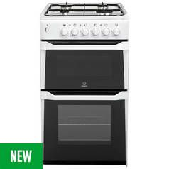 Indesit ID5G00KMW Gas Double Cooker - White Best Price, Cheapest Prices