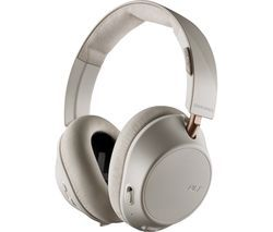 PLANTRONICS Back Beat Go 810 Wireless Bluetooth Noise-Cancelling Headphones - Bone White Best Price, Cheapest Prices