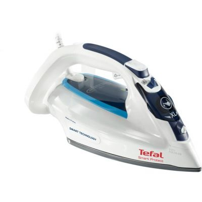 Tefal Smart Protect FV4980 2600 Watt Iron -White / Blue Best Price, Cheapest Prices