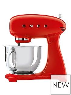 Smeg Red 50s Style Stand Mixer (Full Colour) Best Price, Cheapest Prices