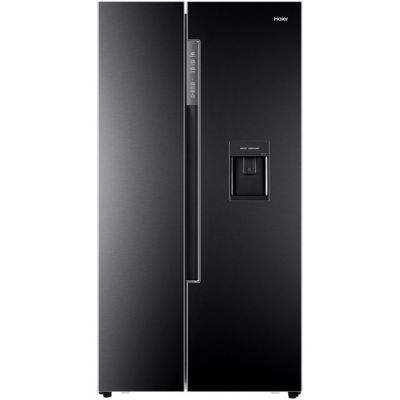 Haier HRF-522WBB6 American Fridge Freezer - Black - A+ Rated Best Price, Cheapest Prices