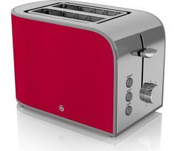 SWAN Retro ST17020RN 2-Slice Toaster - Red Best Price, Cheapest Prices
