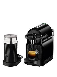 Nespresso Inissia and Aeroccino 3 Coffee Machine by Magimix - Black Best Price, Cheapest Prices