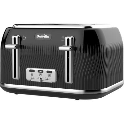Breville Flow Collection VTT890 4 Slice Toaster - Black Best Price, Cheapest Prices