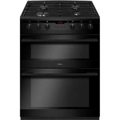 Amica AFG6450BL 60cm Gas Cooker with Full Width Gas Grill - Black - A/A Rated Best Price, Cheapest Prices