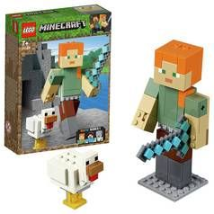 LEGO Minecraft Alex BigFig with Chicken Playset - 21149 Best Price, Cheapest Prices