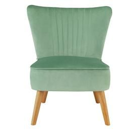 Argos Home Alana Velvet Shell Back Accent Chair - Mint Best Price, Cheapest Prices