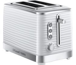 RUSSELL HOBBS Inspire 24370 2-Slice Toaster - White Best Price, Cheapest Prices