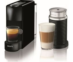 NESPRESSO by Krups Essenza Mini XN111840 Coffee Machine with Aeroccino - Black Best Price, Cheapest Prices