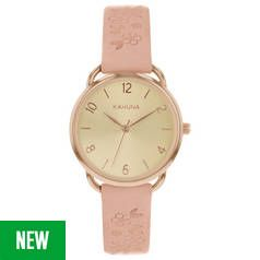 Kahuna Rose Gold Dial Ladies Pink Strap Watch Best Price, Cheapest Prices