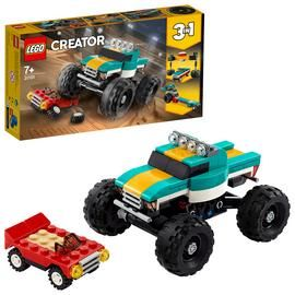 LEGO Creator 3-in-1 Monster Truck Demolition Car Toy - 31101 Best Price, Cheapest Prices