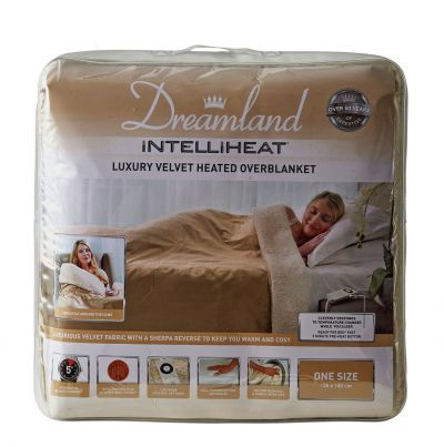 Dreamland Lux Velvet Heated Overblanket Sherpa Fleee Best Price, Cheapest Prices