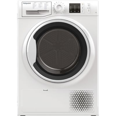Hotpoint NTM1081WKUK 8Kg Heat Pump Tumble Dryer - White - A+ Rated Best Price, Cheapest Prices