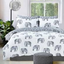 Pieridae Grey Elephant Bedding Set - Kingsize Best Price, Cheapest Prices
