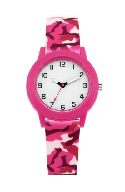 Little Tix Childrens Pink Camouflage Silicone Strap Watch Best Price, Cheapest Prices