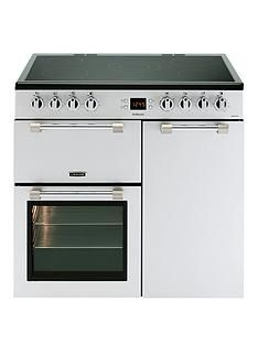Leisure CK90C230S Cookmaster 90cm Electric Range Cooker with Ceramic Hob and Optional Connection  - Silver Best Price, Cheapest Prices