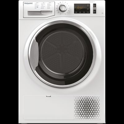 Hotpoint ActiveCare NTM1182XBUK 8Kg Heat Pump Tumble Dryer - White - A++ Rated Best Price, Cheapest Prices