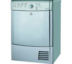 INDESIT EcoTime IDCL85BHS Condenser Tumble Dryer - Silver Best Price, Cheapest Prices