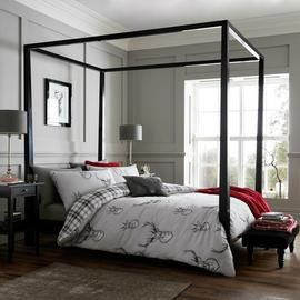 Catherine Lansfield Silver Stag Bedding Set - Double Best Price, Cheapest Prices