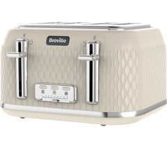 BREVILLE Curve VTT788 4-Slice Toaster - Cream Best Price, Cheapest Prices