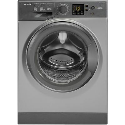 Hotpoint NSWM843CGGUK 8Kg Washing Machine with 1400 rpm - Graphite - A+++ Rated Best Price, Cheapest Prices