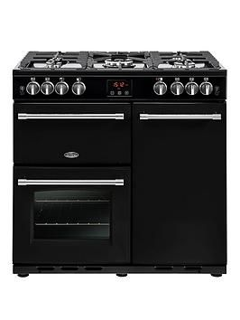 Belling 90Gt Farmhouse 90Cm Gas Range Cooker - Rangecooker With Connection Best Price, Cheapest Prices