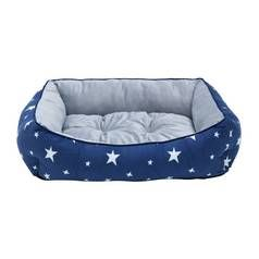Star Box Blue and Grey Pet Bed - Large Best Price, Cheapest Prices