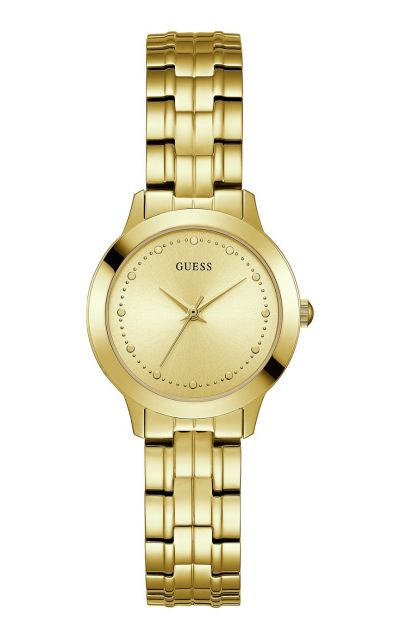Guess Ladies Chelsea Gold Plated Bracelet Watch Best Price, Cheapest Prices