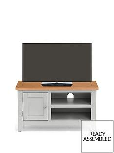 Julian Bowen Richmond Ready Assembled Tv Unit - Fits Up To 38 Inch Tv Best Price, Cheapest Prices