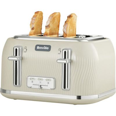 Breville Flow Collection VTT891 4 Slice Toaster - Cream Best Price, Cheapest Prices
