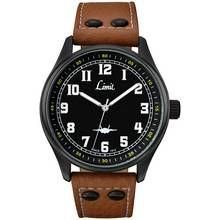Limit Men's Pilot Style Tan Faux Leather Strap Watch Best Price, Cheapest Prices