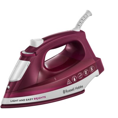 Russell Hobbs Light & Easy Brights 24820 2400 Watt Iron -Mulberry Best Price, Cheapest Prices