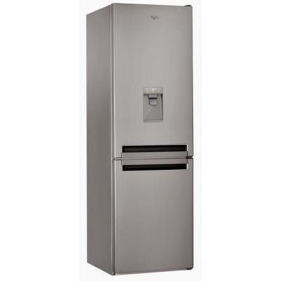 Whirlpool BSNF8451OXAQUA.1 70/30 Frost Free Fridge Freezer - Stainless Steel Effect - A+ Rated Best Price, Cheapest Prices