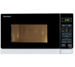 SHARP R272WM Solo Microwave - White Best Price, Cheapest Prices
