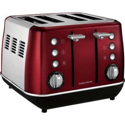 Morphy Richards Evoke 240108 4 Slice Toaster - Red Best Price, Cheapest Prices