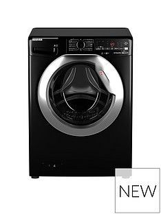 Hoover DWOA411AHC8B-80 11kg, 1400 Spin Washing Machine- Black/Chrome door Best Price, Cheapest Prices